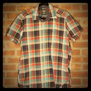 H&M Plaid Button Up Collared Shirt Size M